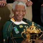 Springboks visit to Nelson Mandela in Houghton